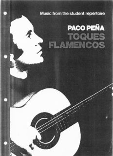 Paco Pena Toques Flamencos. Music from student repertoire