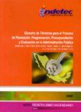 Glosario de Términos para el Proceso de Planeación, Programación, Presupuestación y