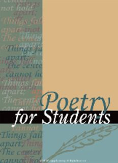 Poetry for students. Volume 42 : presenting analysis, context and criticism on commonly studied poetry