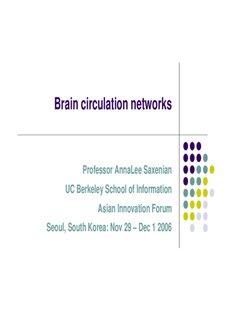 Professor AnnaLee Saxenian UC Berkeley School of Information Asian