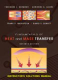 Fundamentals of heat and mass transfer. Solutions