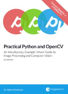 Practical Python and OpenCV, 3rd Edition