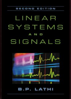 Linear Systems and Signals, 2nd Edition – B.P. Lathi
