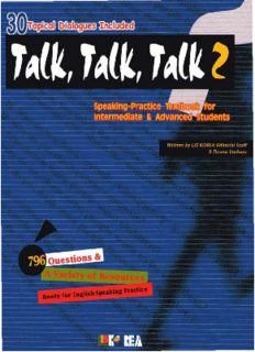 Talk, Talk, Talk 2: Speaking-Practice Textbook for Intermediate & Advanced Students
