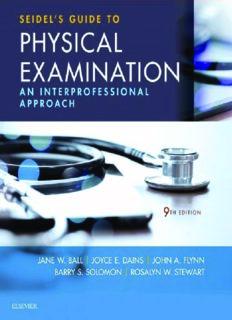 Seidel's Guide to Physical Examination [TRUE PDF]
