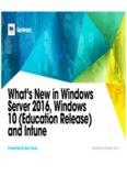 What's New in Windows Server 2016, Windows 10