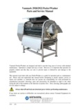 Vanmark 2920/2922 Peeler/Washer Parts and Service Manual