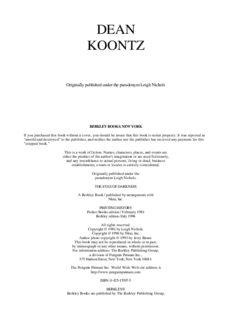 Dean R. Koontz - The Eyes of Darkness