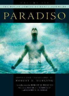 The Divine Comedy of Dante Alighieri (Volume 3: Paradiso)