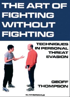 Art of Fighting without Fighting  Martial Arts   Self Defense
