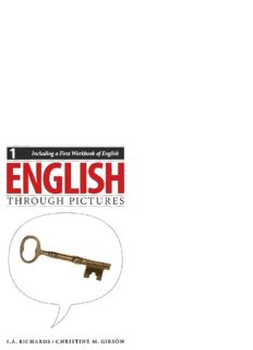 English Through Pictures, Book 1 and A First Workbook of English (English Through Pictures) (Bk. 1)