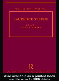 Laurence Sterne: The Critical Heritage (The Collected Critical Heritage : Early English Novelists)