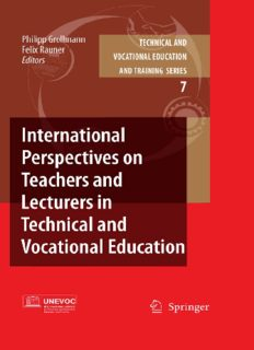 International Perspectives on Teachers and Lecturers in Technical and Vocational Education (Technical and Vocational Education and Training: Issues, Concerns and Prospects)