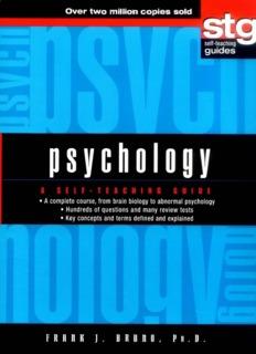 Psychology - A Self-Teaching Guide