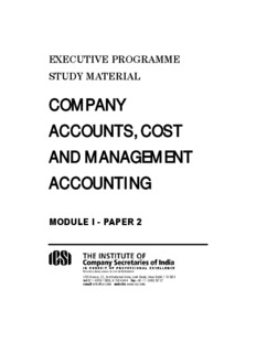 Company Accounts, Cost and Management Accounting - ICSI