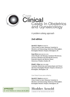 Core Clinical Cases in Obstetrics and Gynaecology