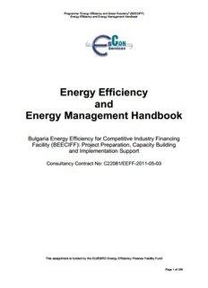 Energy Efficiency and Energy Management Handbook