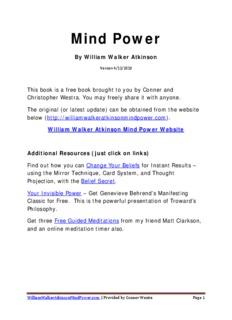 William Walker Atkinson Mind Power