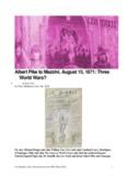 Albert Pike to Mazzini, August 15, 1871: Three World Wars?