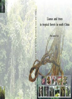 Lianas and trees in tropical forests in south China