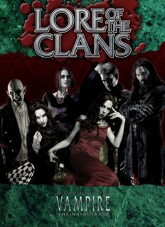 World of Darkness: Vampire - The Masquerade: Lore of the Clans