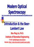Beer – Lambert Law