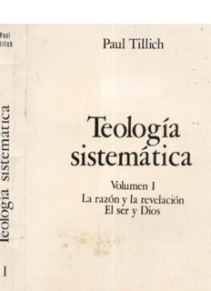 Paul Tillich – Teologia Sistematica