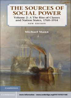 The Sources of Social Power: Volume 2, The Rise of Classes and Nation-States, 1760-1914