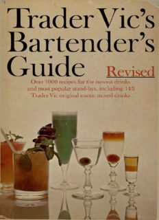 Trader Vic's Bartender's Guide Revised