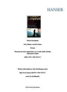 Hiromi Kawakami Herr Nakano und die Frauen Roman Übersetzt aus dem Japanischen von ...