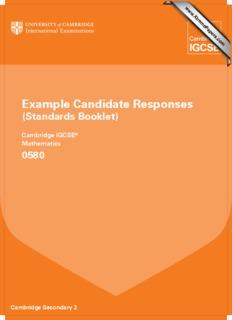 Cambridge IGCSE ® Mathematics 0580 - Papers - XtremePapers