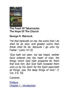 Feast of Tabernacles/pdf - George Warnock