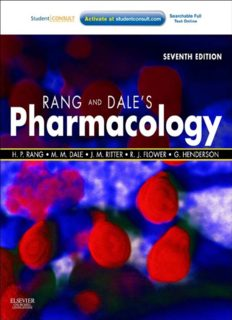 Rang & Dale's Pharmacology, 7th Edition: with STUDENT CONSULT Online Access