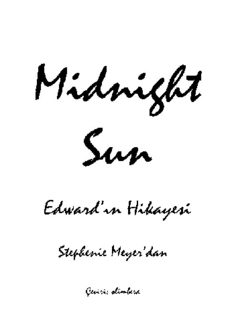 Geceyarısı Güneşi - Stephenie Meyer