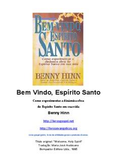 Bom Dia Espirito Santo Baixar em PDF - livrosgospel.net