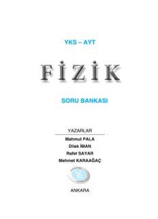 Karaağaç AYT Fizik Soru Bankası 2018-19