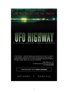 UFO HIGHWAY: The Dulce Interview, Human Origins, HAARP & Project Blue Beam - KINDLE ONLY EDITION - Kindle Only eBook (Oct. 15, 2010) by Anthony F. Sanchez
