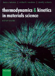 Bokstein B.S., Mendelev M.I., Srolovitz D.J. Thermodynamics and Kinetics in Mate