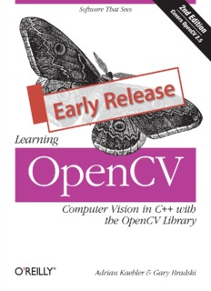 Adrian Kaehler-Learning OpenCV Computer Vision in C++ with the OpenCV Library Early 2016 ...