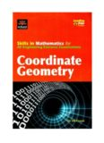 Skills in mathematics for all engineering entrance examinations: Coordinate geometry (part 1)