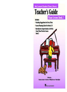 Piano Lessons Book 2 - Hal Leonard