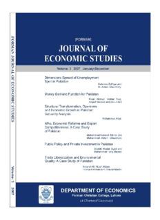 Forman Journal of Economic Studies VOL 3 - FCC - Forman