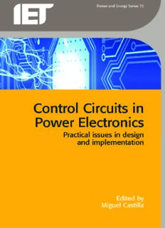 Control Circuits in Power Electronics  Practical Issues in Design and Implementation