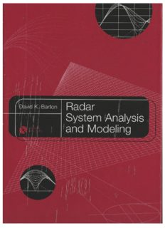 Barton. Radar System Analysis and Modeling