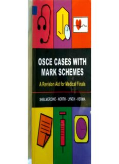 OSCE Cases with Mark Schemes A Revision Aid for Medical Finals