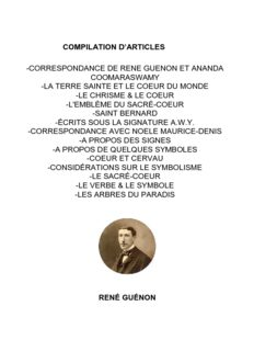rené guénon -correspondance de rene guenon et ananda coomaraswamy