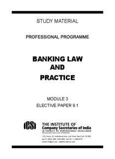 BANKING LAW AND PRACTICE - The Institute of Company
