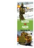 Bazooka vs Panzer.  Battle of the Bulge 1944  (Osprey Duel 77)