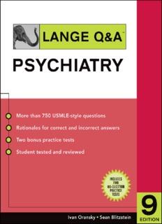 Lange Q & A. Psychiatry