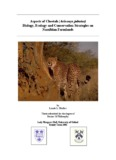 Aspects of Cheetah (Acinonyx jubatus) Biology, Ecology and